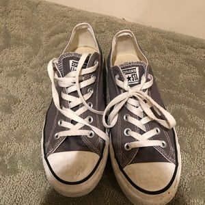Grey low rise Converse